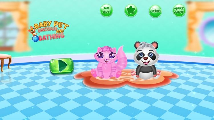 Baby Pet Wash Dressup Bathing screenshot-0