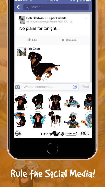 CrusoeMoji - Dachshund sticker screenshot-4