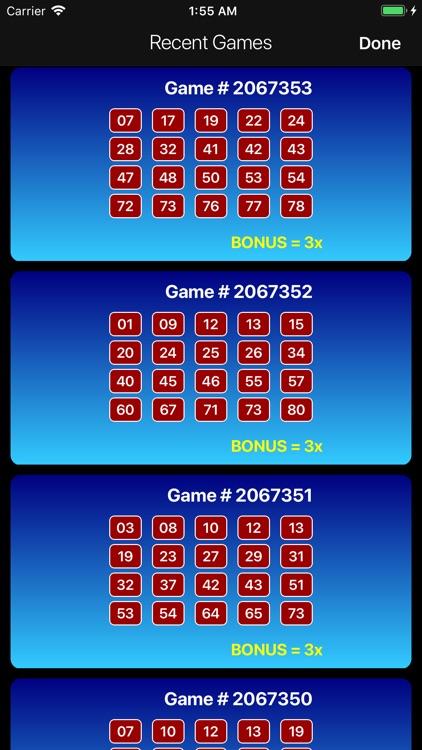 Keno Lotto Pro: Ticket Scanner screenshot-7