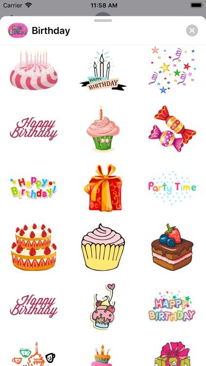 100+ Happy Birthday Stickers screenshot-6