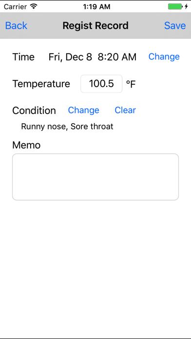 Body Temperature Recorder screenshot three