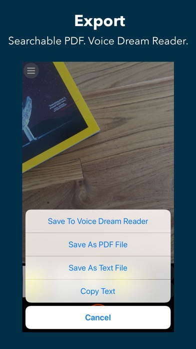 Voice Dream Scanner screenshot 4
