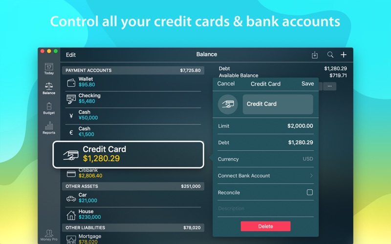 Money Pro: Personal Finance Screenshots