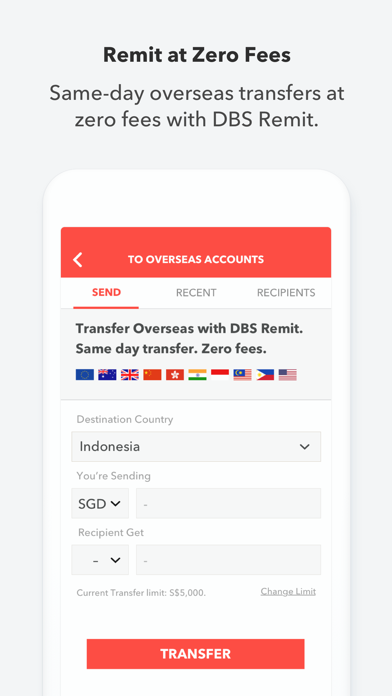 Screenshot for DBS digibank SG in Korea App Store