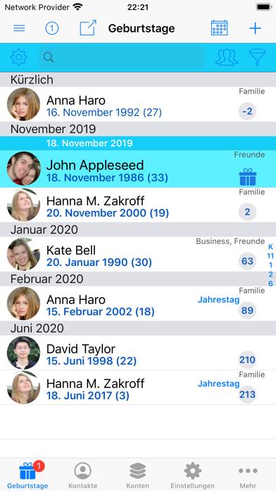 BirthdaysPro XScreenshot von 6