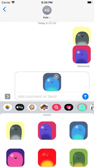 Valentina Green stickers screenshot 3