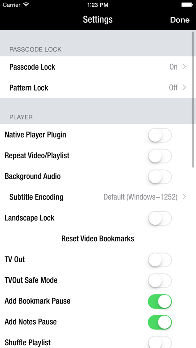 Screenshot for Azul - Video Player for iPhone in Turkey App Store