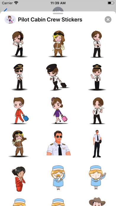 Pilot & Cabin Crew Stickers screenshot 1