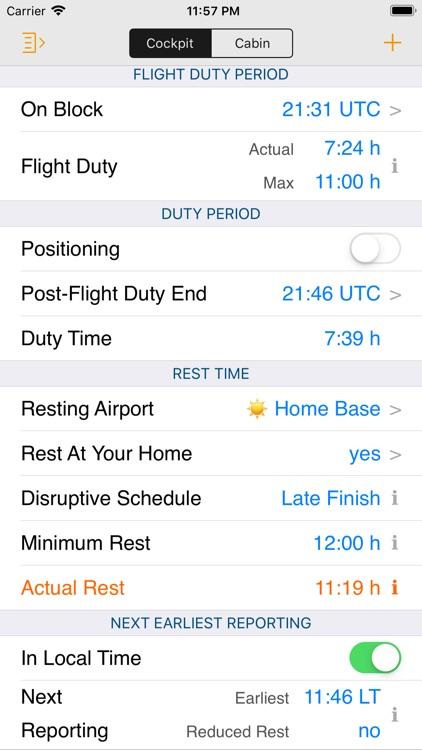 EASA FTL Calc screenshot-4
