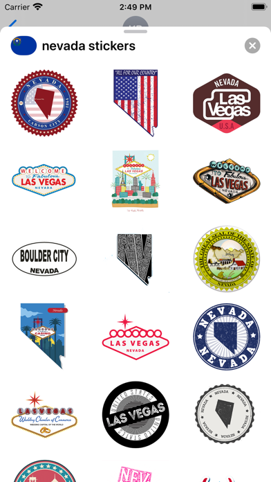 Nevada emojis - USA stickers screenshot 1