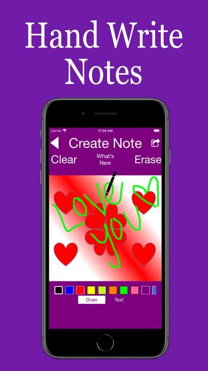 Hand Written Love Notes Pro