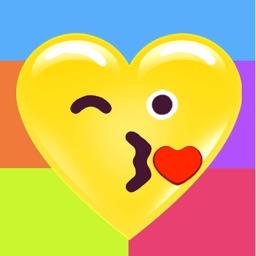 Heart Face Multicolor Stickers