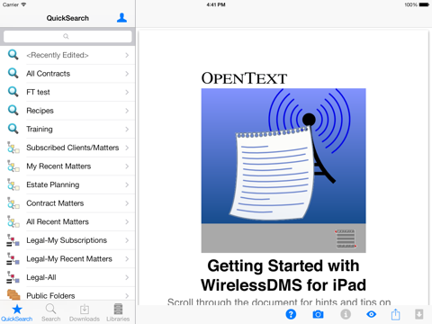 Screenshot of WirelessDMS