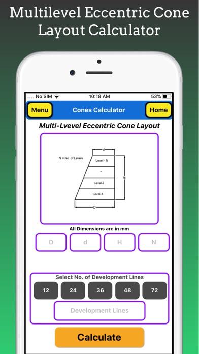 Cones Calculator Pro screenshot 8