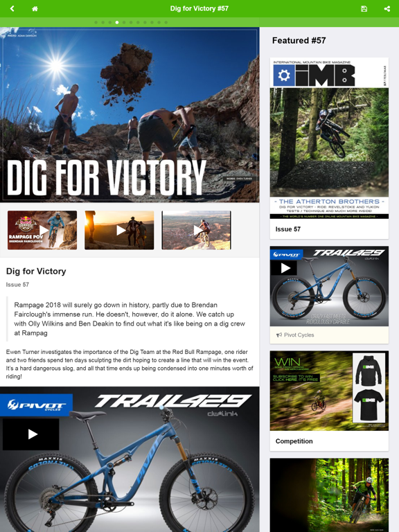 IMB Free Mountain Bike Magazine screenshot