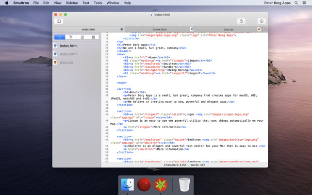 ‎Smultron 12 - Text editor Screenshot