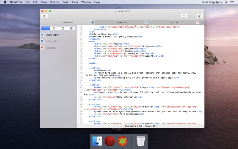 Smultron 12 - Text editor for Mac