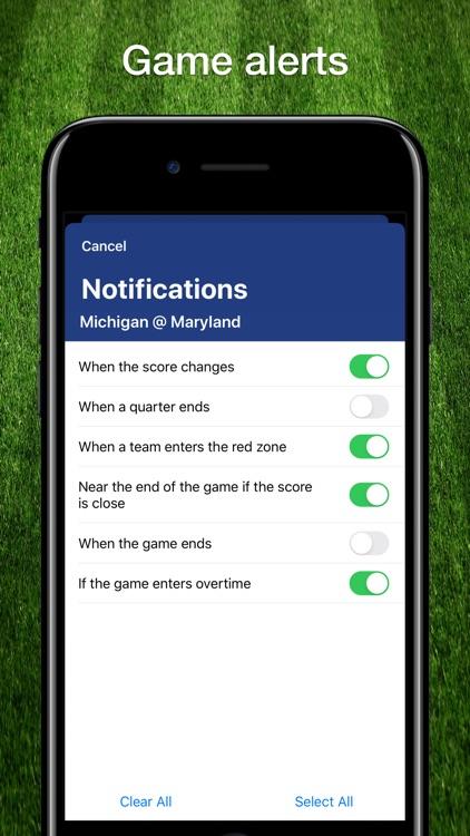 Scores App: College Football screenshot-3
