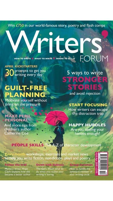 Writers' Forum Magazine Screenshot
