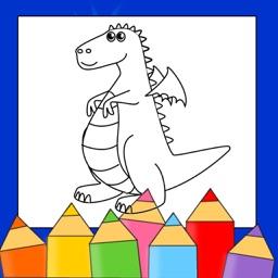 Dragon Coloring Drawing Book