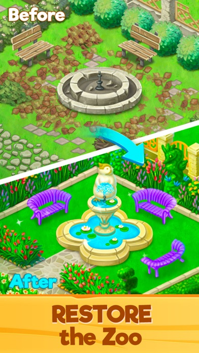 Zoo Rescue: Match 3 & Animals screenshot one