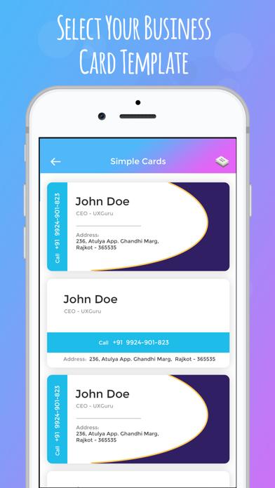 Screenshot of iBusiness Card Maker3