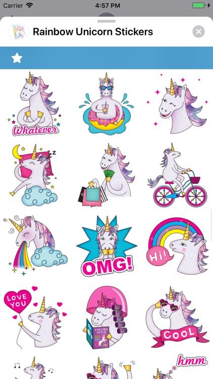 Rainbow Unicorn Stickers screenshot-5