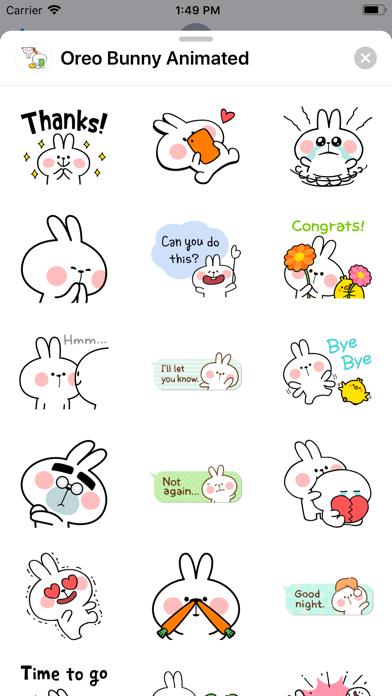 Oreo Bunny Animated screenshot 5