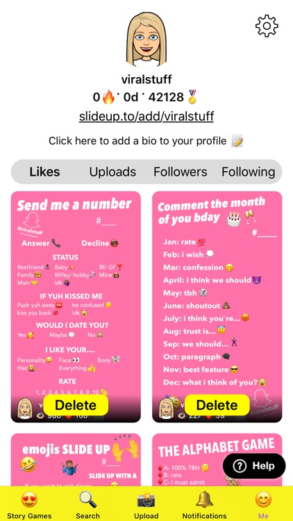 Slide Up - Games for Snapchat! screenshot-6