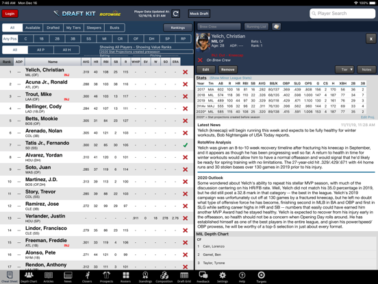 Fantasy Baseball Draft Kit '20 screenshot 6