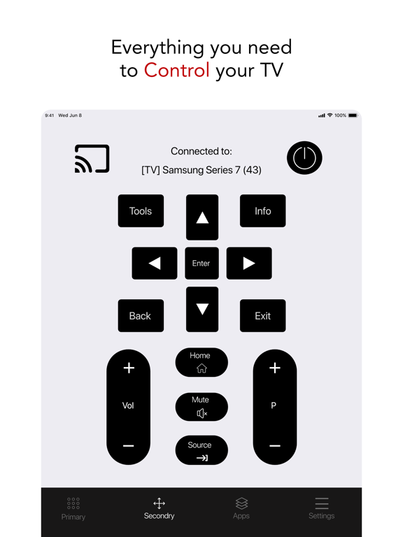 Smart TV Remote for Samsung.のおすすめ画像2