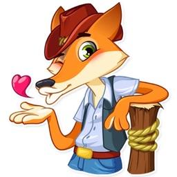Cowboy Fox Sticker Pack