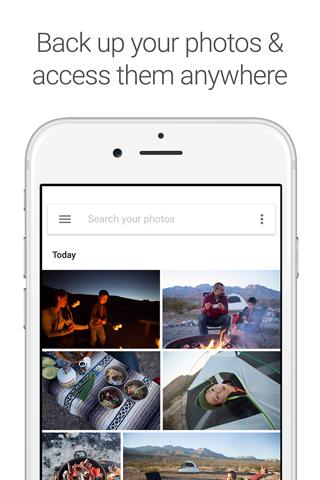 Google Photos - náhled