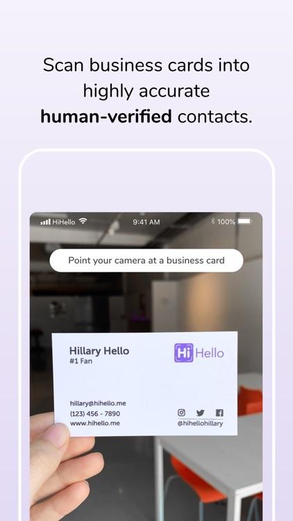 HiHello: Contact Exchange
