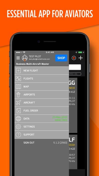 RocketRoute FlightPlan Screenshot