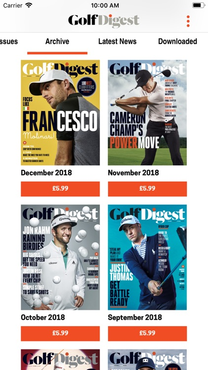 Golf Digest Magazine screenshot-3