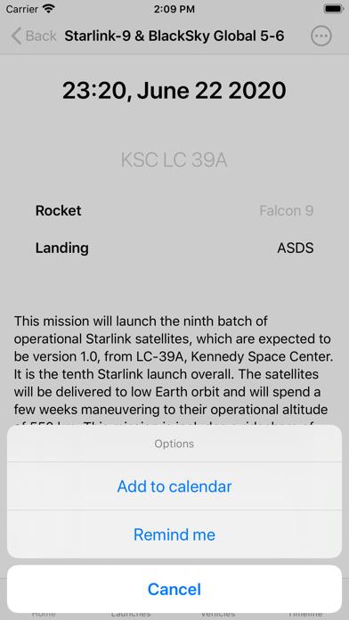 SpaceX Explorer screenshot 2