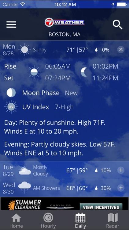 WHDH 7 Weather - Boston screenshot-3
