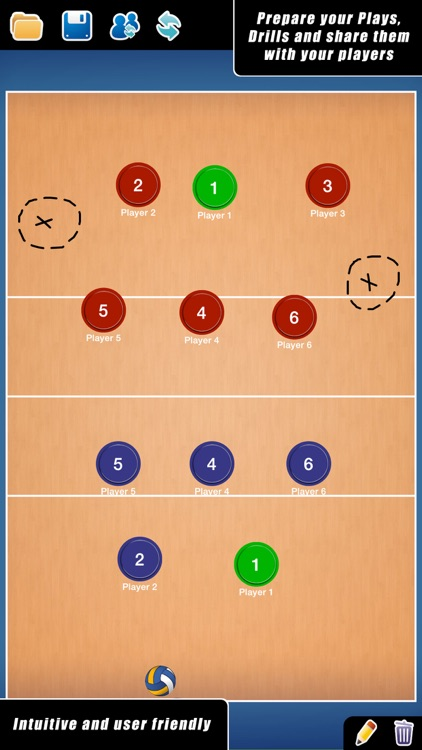 Coach Tactic Board: Volley++