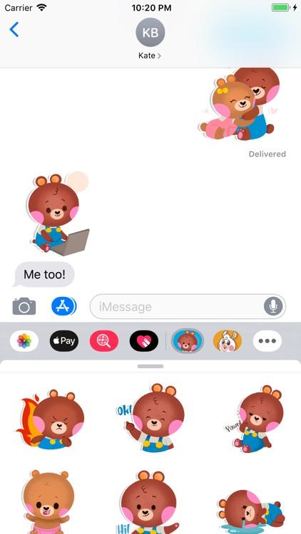 Cute Bear - Animated Stickers screenshot-3