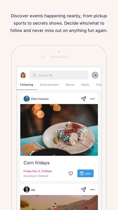 IRL - Social Calendar Screenshot