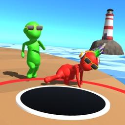 Fun Race Color Hole Party 3D