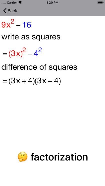 Quadratic Factoring screenshot-8
