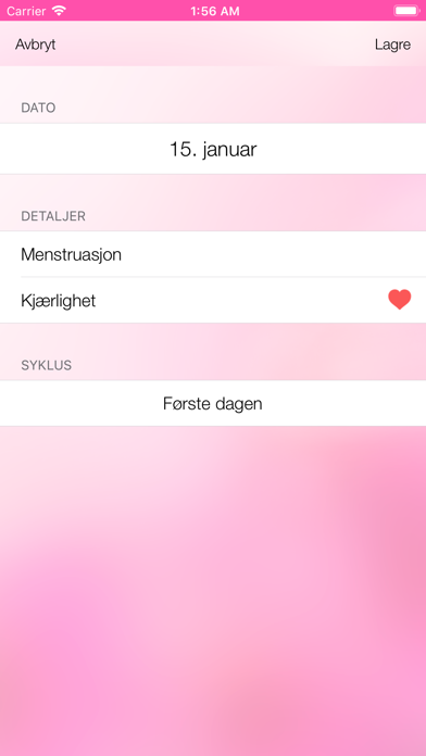 Screenshot for Eggløsningskalenderen in Norway App Store
