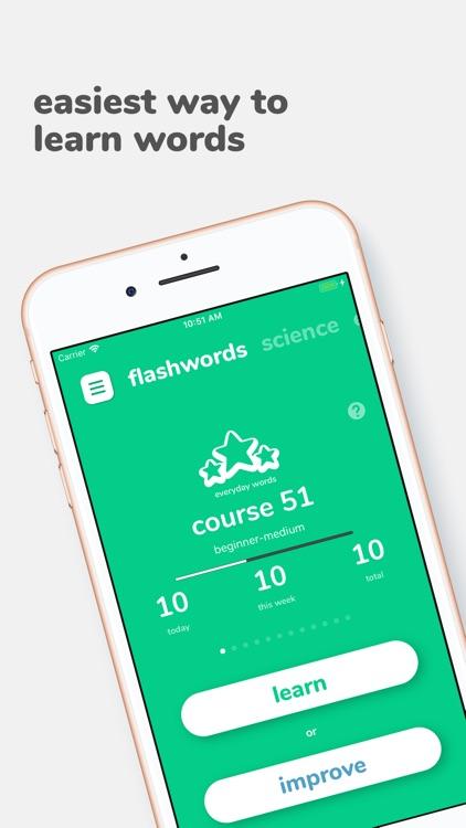 Flashwords - learn new words! screenshot-0
