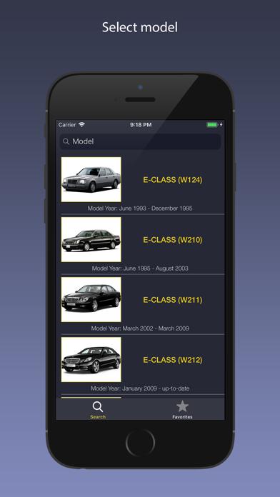 AutoParts for Mercedes Benz Screenshot
