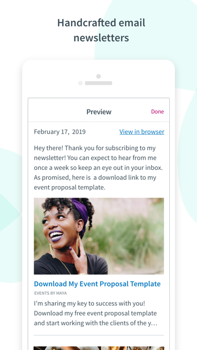 Screen Shot Curate: Simple Email Marketing 2