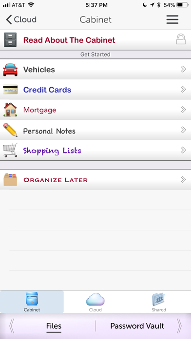 iStratus® Screenshots