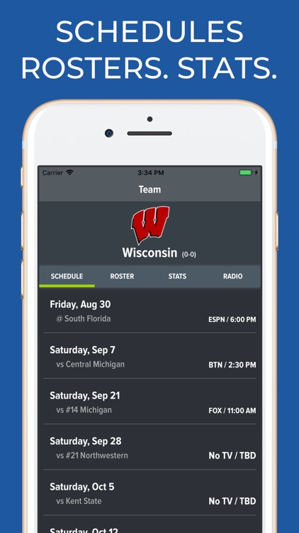 Wisconsin Football Schedules