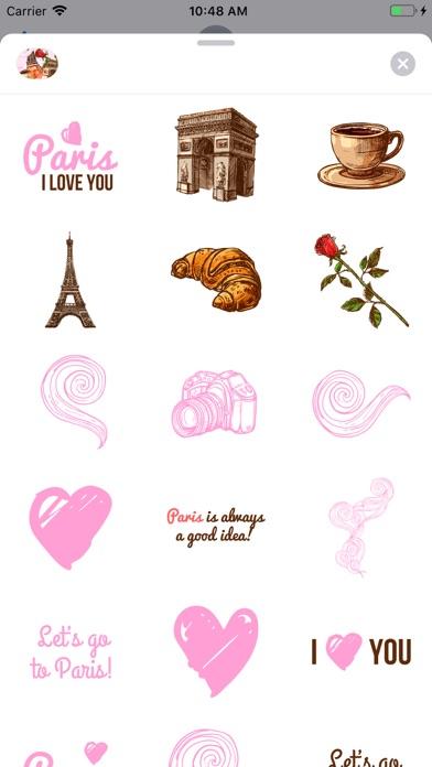Paris Chic Stickerpack screenshot 2